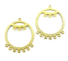 4pcs Large 30mm Gold Plated 2 Tier by FancyGemsandFindings on Etsy, $5.90