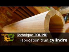 Fabrication d'un gros cylindre en bois - Technique de travail à la toupie sur ma felder KF 700 - YouTube