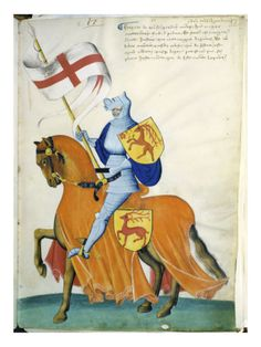 Pale Blue Knight and Orange Horse: Capodilista Codex Giclee Print at Art.com