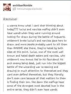 They didn't even have wands