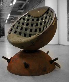 Мебель из старых морских мин