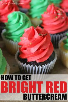 How to Get Bright Red Buttercream. In this post I share my #1 tip to get bright red buttercream plus a few other tips to help you if you're having trouble!