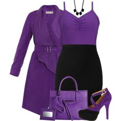 """Purple and Black"" by fashion-766 on Polyvore"