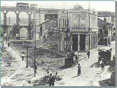 Construção da Av. Mem de Sá em 1904.