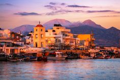 Sunset at Ierapetra, Crete, Greece by Joe Daniel Price on European Destination, European Travel, Places To Travel, Places To Visit, Great Vacation Spots, Affordable Vacations, Cruise Destinations, Summer Travel, Greek Islands