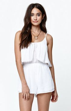 5cd3069c30e Shop Women s PacSun size XS Dresses at a discounted price at Poshmark.  Description  La hearts crochet trim flutter open back romper. Sold by  pabejarano.