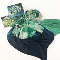 Шелковый платок, платок батик, батик, платки ручной росписи, корпоративные платки, подарки, корпоративные подарки, подарок для женщины, подарок начальнице, шелковое платье, Handmade, batik,  искусство