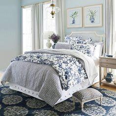 Toile Bedding, Blown Glass Pendant Light, Teen Girl Bedrooms, Neutral Bedrooms, White Bedrooms, Girl Rooms, Teen Bedroom, Ballard Designs, Interior Exterior