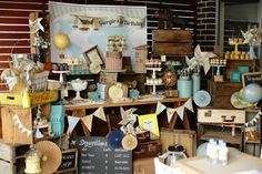 Excited to share this amazing Vintage Airplane Themed Birthday Party styled to perfection by Rainbow & Lollipops (Based in Sydney). There are so many details to love, like the welcome sign, pla...