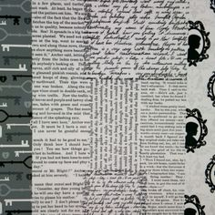 Decoupage paper offering 3 different designs; old keys, newspaper print & silhouette portraits.
