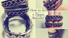 DIY Zipper Charm Bracelet (+ Bonus Zipper Wrap Bracelet!) - YouTube