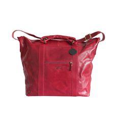 Shopping Bag aus Leder in Rot