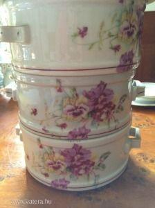 antik régi háború utáni porcelán ételhordó - 18500 Ft
