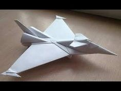 Origami Paper | Origami Aircraft | How to Make Origami Fighter Eurofighter