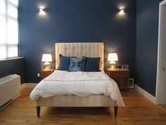 Wall colour for boys' room. Van Deusen Blue - Benjamin Moore