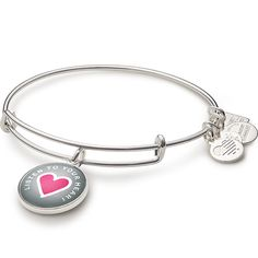 Listen To Your Heart Charm Bangle | Life Is Good Kids Foundation - Silver