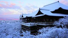 京都 清水寺 雪 Japan,Kyoto,Kiyomizu-dera temple,snow