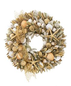 Looove ---  Take a look at this Gold Nautical Wreath on zulily today!