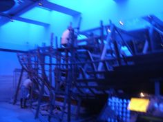het geraamte van een parelduik boot. Parelduiken was één van de grootste inkomstenbronnen van het gebied wat we nu kennen als Dubai