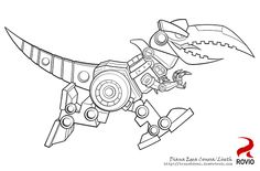 Angry Birds Transformers Colouring Pages
