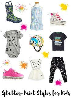 Splatter-Paint Styles | Kids Summer Fashion | Fun Kids Fashion | Kids Fashion Trends | MomTrends.com