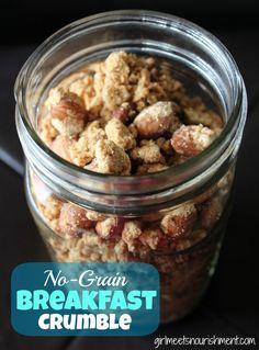 No-Grain Breakfast Crumble (a great alternative to granola!) - Girl Meets Nourishment