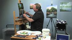 Wilson Bickford video tutorial oil painting a waterfall. Part 3.