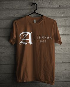 T-shirt Alienpas #4 (Brown)