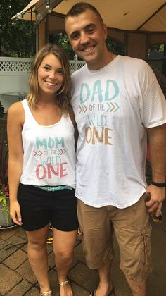 Hey, I found this really awesome Etsy listing at https://www.etsy.com/listing/471541677/2-shirt-set-mom-and-dad-of-the-wild-one