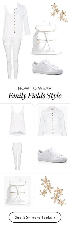 """""""Emily Fields- White Out"""" by allycatstar on Polyvore featuring Topshop, rag & bone, Puma, Current/Elliott, Boohoo and Bonheur"""