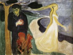 """Separation"", 1896, Edvard Munch.  Makes me think of Lots wife turning to salt."
