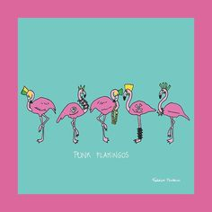 Punk Flamingos #drawing #draw #illustration #picture #colorful #visualart #artist #art #artwork #design #graphicdesign #sketchbook #creative #pencil #amazing #monzanifederico #igers #swag #fun #instaart #instagood #instamood #beauty #music #punk #pink #cool #style #funny #like