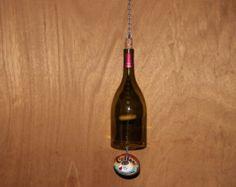 Wine Bottle Wind Chime by ReWinedItbySteph on Etsy