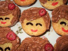 Cute Birthday Girl Cupcake