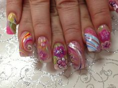 Summer nails by Pinky - Nail Art Gallery nailartgallery.nailsmag.com by Nails Magazine www.nailsmag.com #nailart