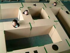 19 Cardboard Box Creations That Will Blow Your Mind Discover easy ways to convert a boring box into a dream toy.<br> These cardboard box transformations are so cool you'll have as much fun making them as playing with them. Fun Games, Games For Kids, Diy For Kids, Crafts For Kids, Children Crafts, Fun Crafts, Indoor Activities, Toddler Activities, Diy Toys