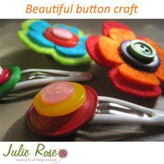Make your own button hair clip