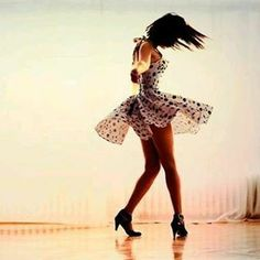 Sandra's halter neck polka cherry swing dancing dress