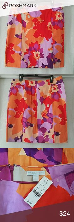 NWT New York & Company Stretch skirt New York & Company bright colored stretch skirt. New with tags, never worn.  Back hidden zipper and clasp closure.  Perfect condition.  Size 14 New York & Company Skirts Pencil