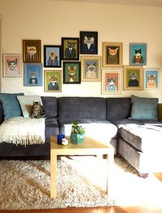 awesome cat art wall
