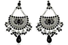 Mexican Earrings Fashion White Black Synthetic Stone Style Chandelier Dangle Women S Earring Jewelry 12 20