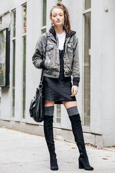 冬はやっぱりブーツが使える NYモデルのお気に入りの一足