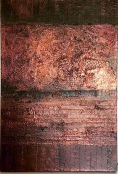 "Lynda Bleyberg 'Mysterious Horizon' Mixed media on box canvas. 30"" x 20"" For sale. £550 - Email: info@lyndableybergart.co.uk"