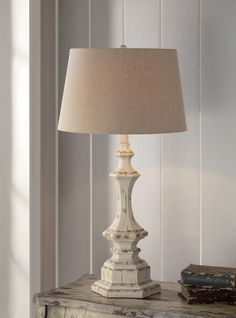 "Crestview Wooden Column Table Lamp 34""Ht CVAUP739"