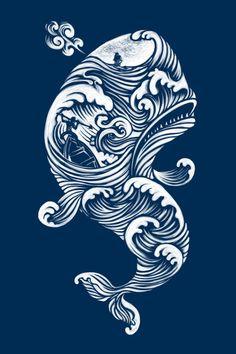 The White Whale  Canvas Print   Peter Kramar   Society6.com