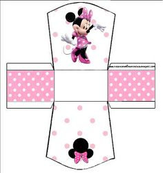 NEW Baby Free printable baby shower box DISCLAIMER First and foremost I take no credit for any of the FREE pattern links on thi. Minnie Baby, Minnie Mouse Pink, Mickey Minnie Mouse, Mickey Party, Mickey Mouse Birthday, Minnie Mouse Cupcake Toppers, Printable Scrapbook Paper, Party Kit, Mouse Parties