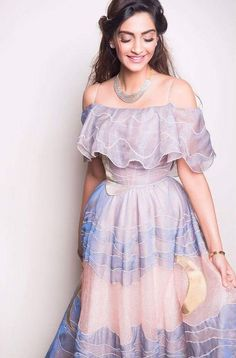 Bollywood actress- Sonam kapoor-dressed in-disney outfit Lastest frock Bollywood Saree, Bollywood Fashion, Bollywood Actress, Indian Dresses, Indian Outfits, Indian Attire, Stylish Dresses, Fashion Dresses, Sonam Kapoor