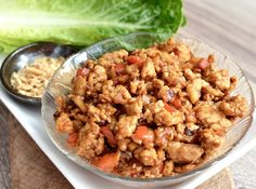 Asian Chicken Lettuce Wraps (better than P.F. Chang's)! A quick, easy, and healthy dinner that tastes delicious! Gluten and dairy-free!