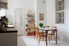 my scandinavian home: White, brown and dark green in Malmö