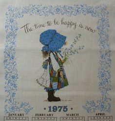 Holly Hobbie 1975 calendar towel